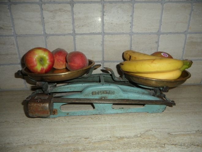 Comparing apples and bananas on a scale